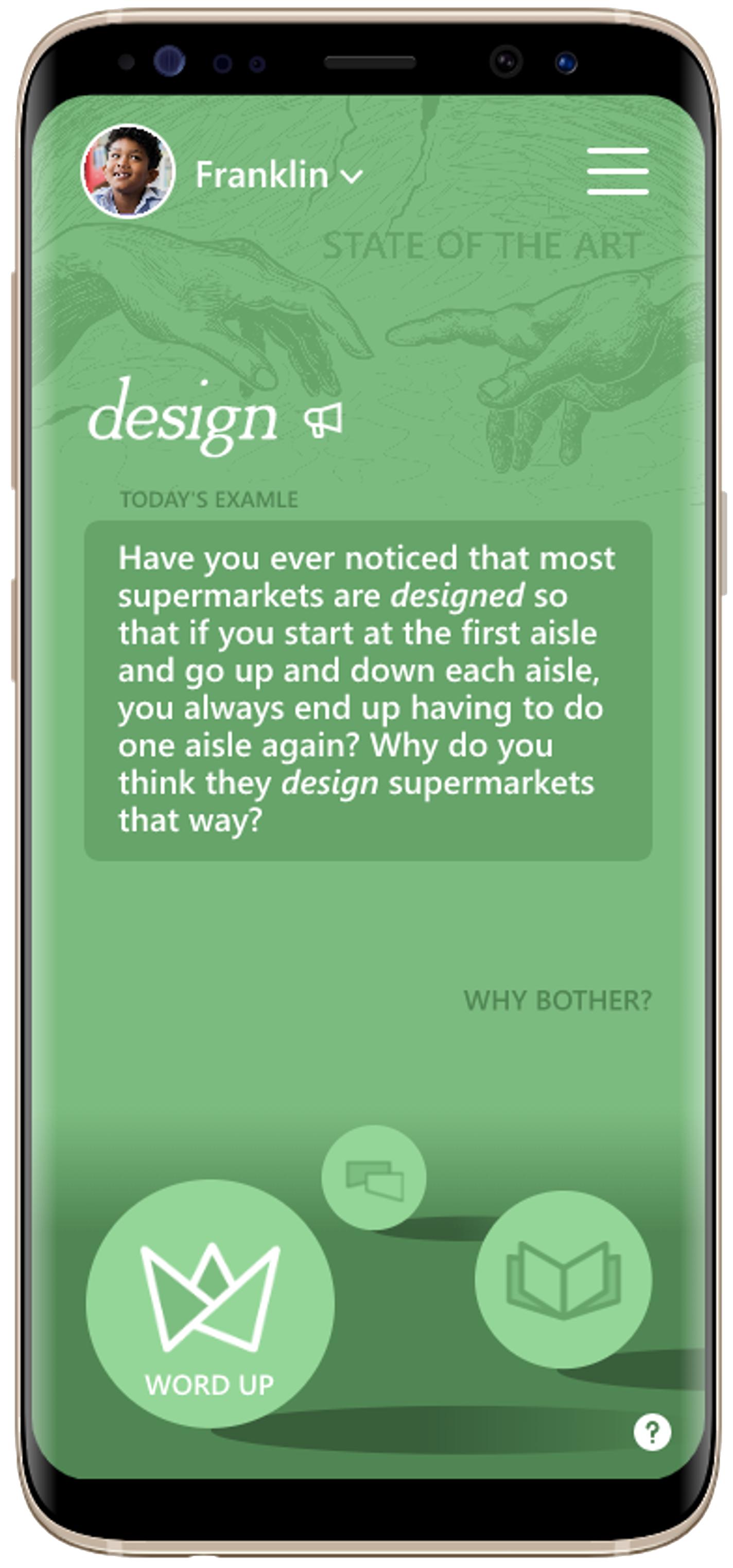 smart phone displaying